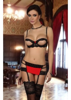 Angelina Set (Black/Red)