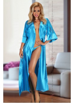 Bouquet Dressing Gown (Turquoise)
