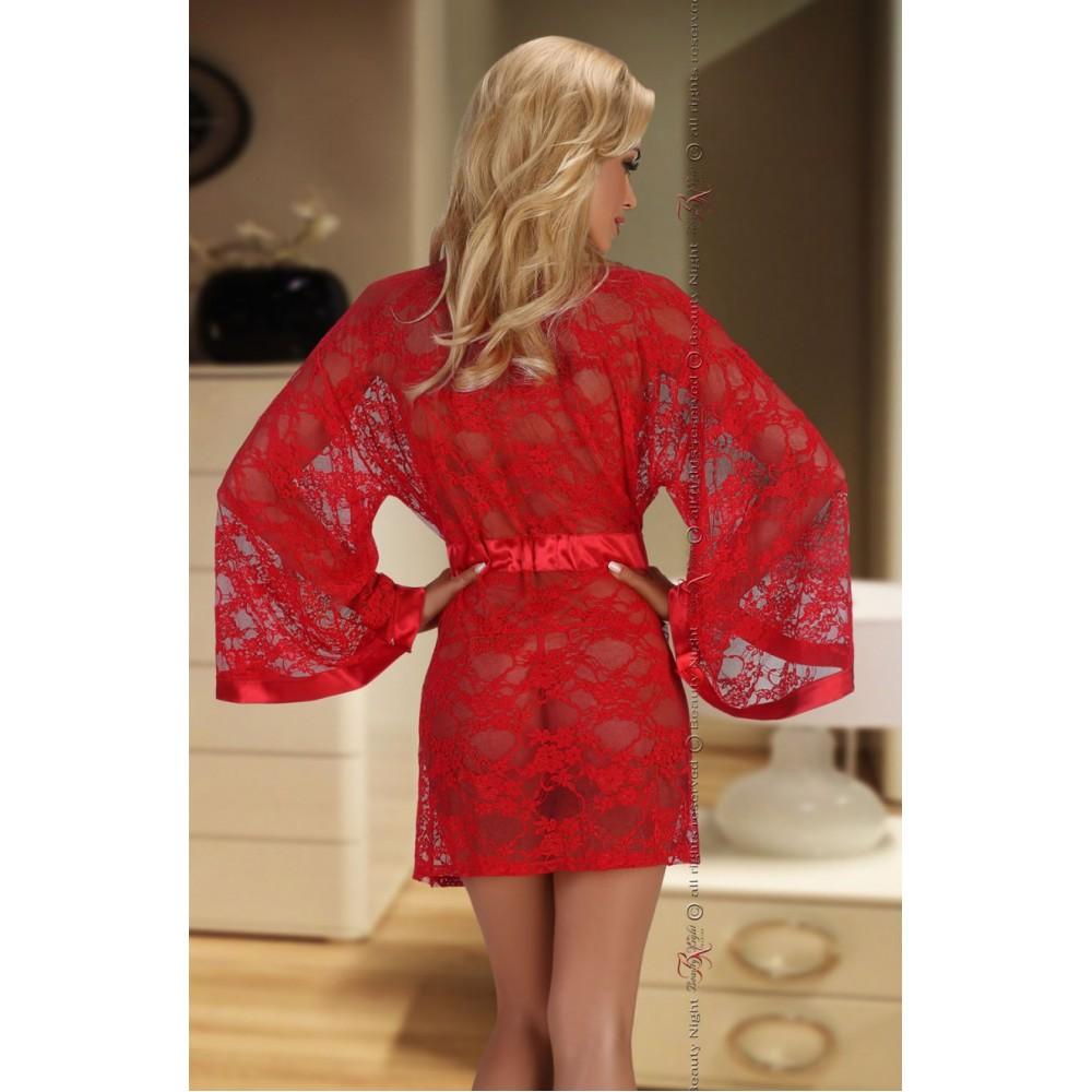 58f0b45cb4 ... Paulette Dressing Gown (Red) ...