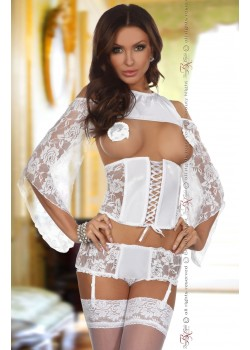 Priscilla Corset Set (White)