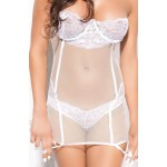Mila Corset (White) with thong