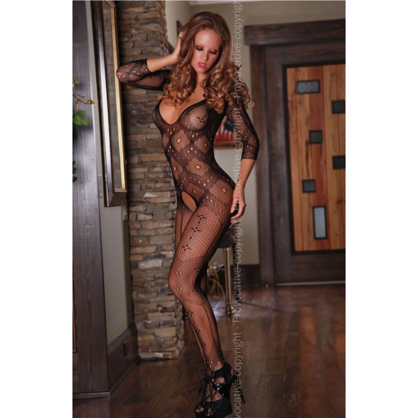 Malina Bodystocking (Black)