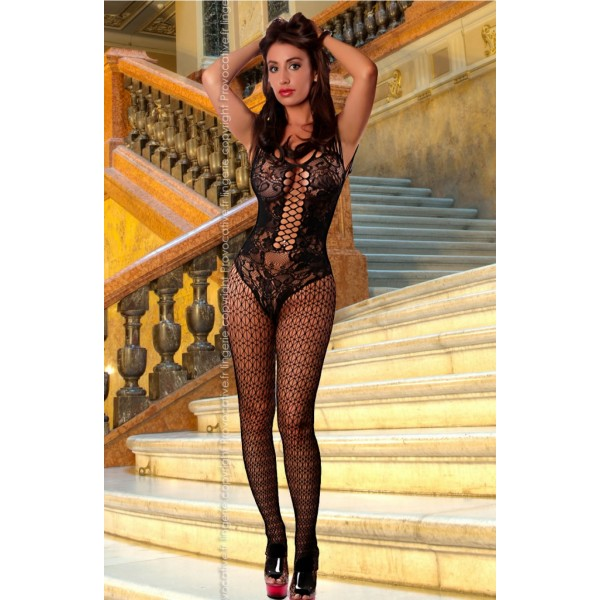 Uliana Bodystocking (Black)