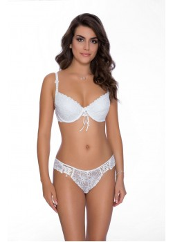 Damaris White Push Up Bra Set