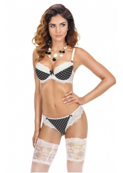 Ewolet Ecru Push Up Bra Set