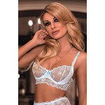 Fifi Soft Cup Bra Set (White)
