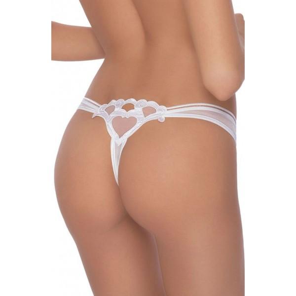 Lica White Thong
