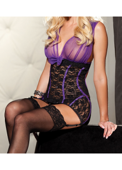 Lilly Chemise (Purple/Black)