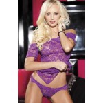 Ruby Chemise & Panty Set (Purple)